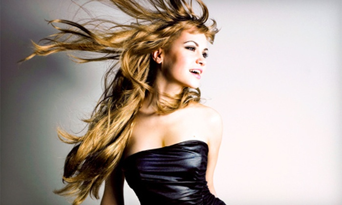 We Play! Salon - Downtown: Haircut Package with Optional Deep Conditioning, Highlights and Lowlights, or Perm at We Play! Salon (Up to 53% Off)
