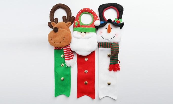 Christmas Doorknob Hangers Set 3 Piece Groupon