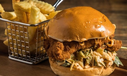 Burger with Chips and Drink for One $12, Two $22 or Four People $42 at Core 51 Up to $88 Value