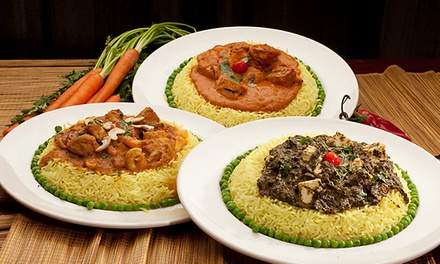 Indian Cuisine for Dinner for Two or More or Lunch Buffet at India Restaurant (Up to 44% Off)