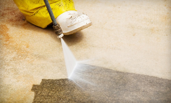 About Time Pressure Washing - Cambridge: Window Cleaning for 15 or 25 Windows, or Pressure-Washing for Driveway or Patio from About Time Pressure Washing (Up to 61% Off). Two Options Available.