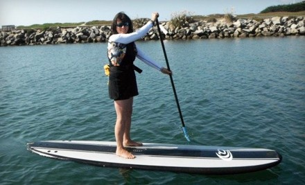 "One-Hour Standup-Paddleboard Rental or a 90-Minute Beginners"" Standup-Paddleboard Lesson at SUP Shack (Up to 56% Off)"