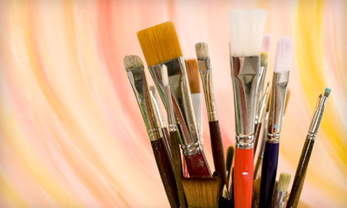 Brushes & Brews - Minneapolis: Three-Hour Painting Class for One or Two from Brushes and Brews (Half Off)