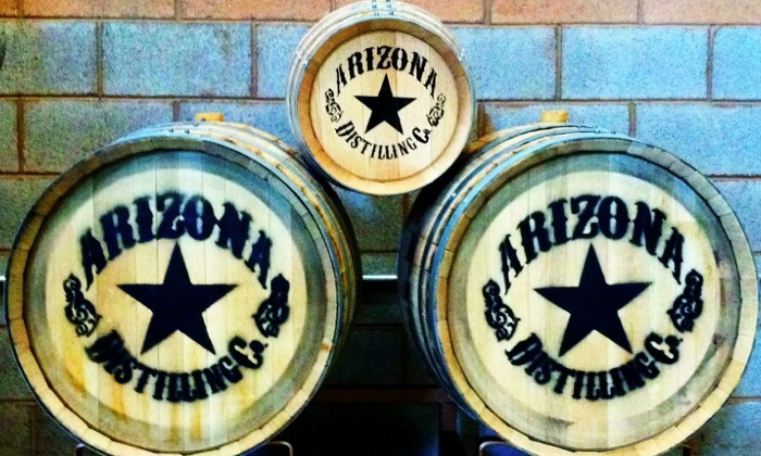 Arizona Distilling Co - Tempe: Distillery Tour and Tasting for 2, 4, 6, or 10 at Arizona Distilling Co (Up to 47% Off)