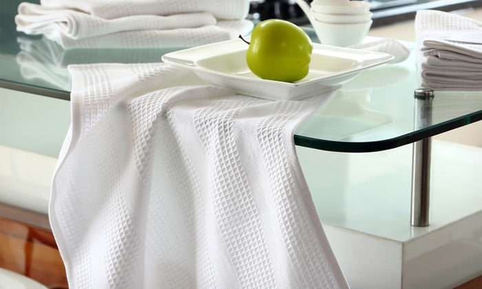 Set of 4 High-Absorbency Waffle-Weave Kitchen Towels: Set of 4 High-Absorbency Waffle-Weave Kitchen Towels. Free Returns.