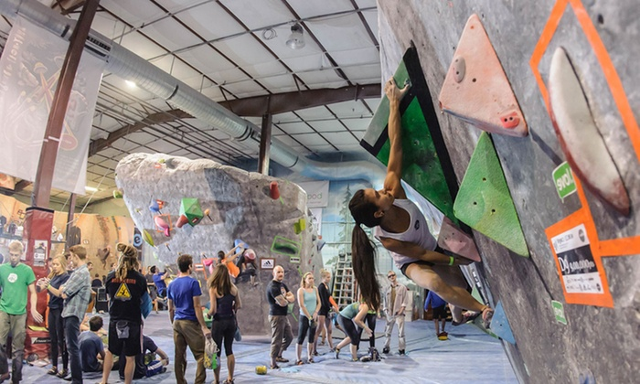 The Spot Bouldering Gym - Boulder: Climbing Pass with Shoe Rental for 2 or 4, or Three-Day Pass for One at The Spot Bouldering Gym (Up to 44% Off)