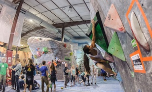 The Spot Bouldering Gym: Climbing Pass with Shoe Rental for 2 or 4, or Three-Day Pass for One at The Spot Bouldering Gym (Up to 44% Off)