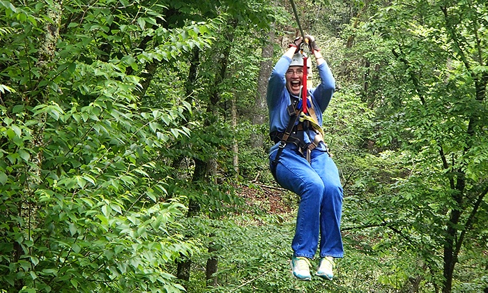 Plumtree Enterprises, LLC dba Sky Valley Zip Tours - Blowing Rock: Zipline Excursion for Two from Sky Valley Zip Tours (Up to 50% Off)