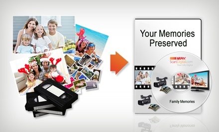 Photo and Video Digitalization Services at ScanDigital (Up to 76% Off). Three Options Available.