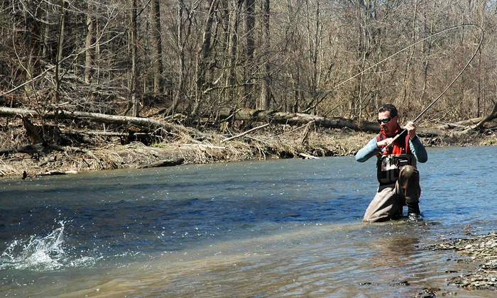 Ohio Steelhead Drifters - Sheffield: Fly-Fishing Casting Lesson for Two or Four at Ohio Steelhead Drifters (Up to 51% Off)