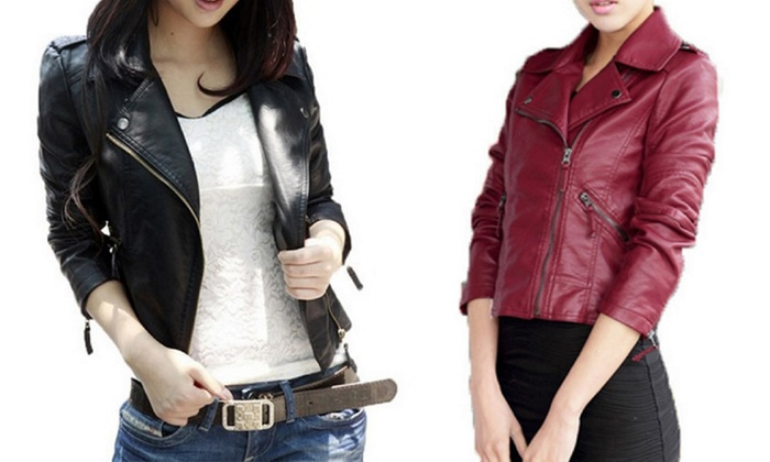 cheap for discount 204c8 19a0b Giacca similpelle donna | Groupon Goods