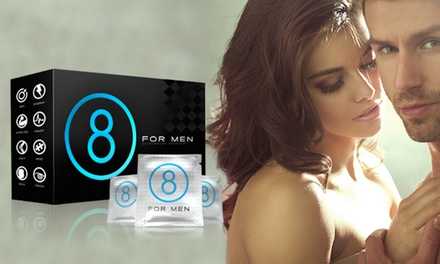 One-, Two-, or Three-Month Supply of 8 For Men Vitamin Supplements