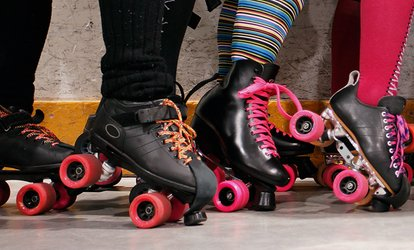 Open <strong>Roller-Skating</strong> with Skate Rentals for Two or Four at The Rink (Up to 52% Off)