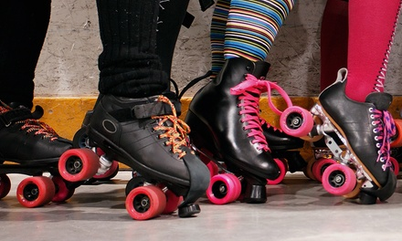 Open Roller-Skating with Skate Rentals for Two or Four at The Rink (Up to 52% Off)