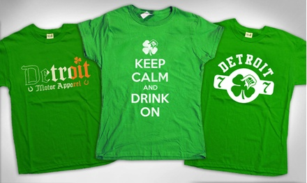 One or Two Detroit-Inspired St. Patrick's Day T-Shirts from Detroit Motor Apparel (Up to 50% Off)