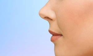 Retoque médico de nariz sin cirugía mediante rinomodelación por 399 € en dos centros a elegir