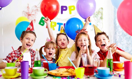 5 or 10 Drop-In Play Passes or a Birthday Party for Up to 8 Kids at Kidsville Cafe (Up to 50%Off)