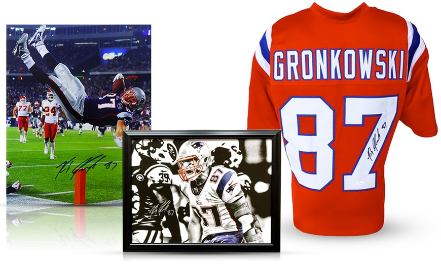 Rob Gronkowski Signed Jersey, Photo, or Framed Canvas Print