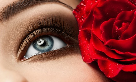 Full Set of Eyelash Extensions with Option for Touchup at Paradise Nails & Spa (Up to 59% Off)