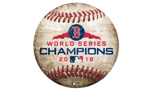 "MLB 2018 World Series Champions Boston Red Sox 12"" Baseball Sign"