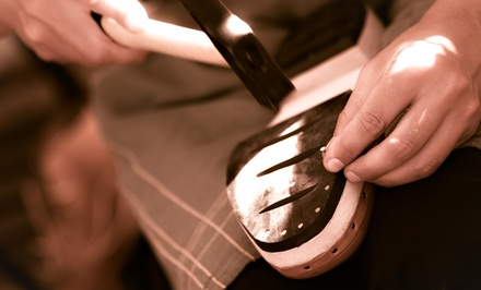 $11 for $20 or $21 for $40 Worth of Shoe Repair. 17 Locations.