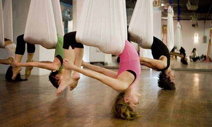 Imagination Place - Imagination Place: 5 or 10 AntiGravity Aerial Yoga Classes at Imagination Place (54% Off)