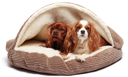 Round Corduroy Cave Pet Bed