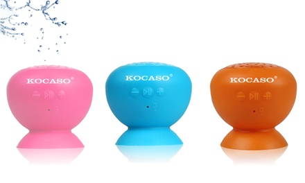 Kocaso Waterproof Portable Mini Bluetooth Speaker with Suction Cup and Mic