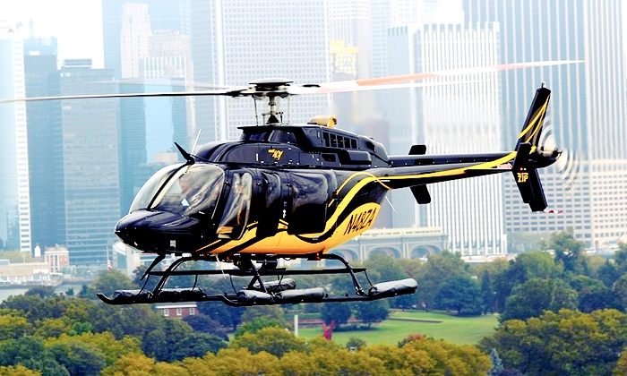 Helicopter tours are public, four to six passengers per helicopter. During the minute tours, passengers soar past the skyline, affording opportunities to snap aerial photos of One World Trade Center, Empire State Building, Central Park, and the Statue of Liberty's good side%().
