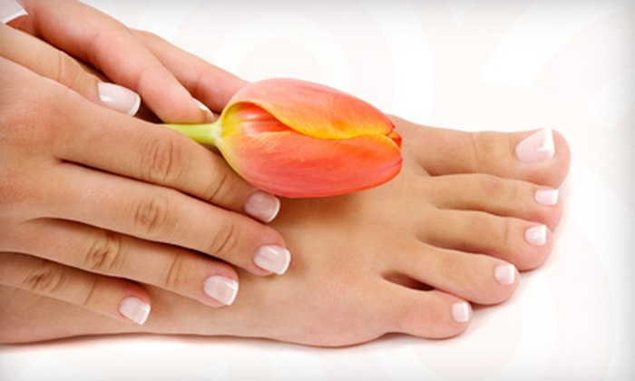 Salon Fuzion - Fountain Valley: Two Signature Pedicures with Option of Two Spa Manicures or Gel-Nail Applications at Salon Fuzion (Up to 57% Off)