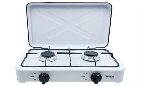 Cocina portátil a gas con 2 fuegos, con envío gratis