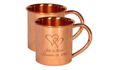 One, Two, or Four 14 Oz. Engraved Pure Copper Moscow Mule Mugs from Alchemade (Up to 43% Off)