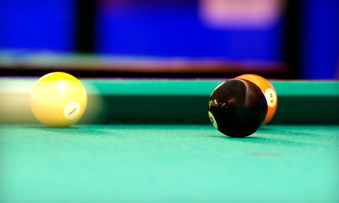 The Break Room - West Fresno: Two Hours of Billiards with Food and Drinks at The Break Room (Up to 70% Off). Two Options Available.