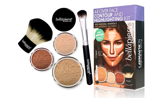 Bellapierre Cosmetics Face-Contouring and Highlighting Mineral Makeup Kit with Brushes