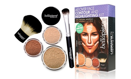 Bellápierre Cosmetics Face-Contouring and Highlighting Mineral Makeup Kit with Brushes