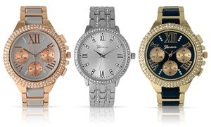 Geneva Women's Crystal Rhinestone Watches: Geneva Women's Crystal Rhinestone Watches