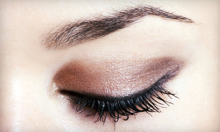LM Beauty Clinic & Just Nails and More - Multiple Locations: Eyebrow Threading or Eyelash Extensions at LM Beauty Clinic or Just Nails and More (Up to 73% Off)