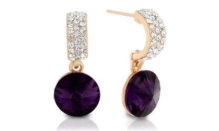 Amethyst Earrings with Swarovski Elements