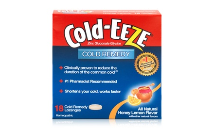 Cold-Eeze Cold Remedy Natural Honey Lemon Flavor Lozenges; 12-Pack of 18ct. Boxes + 5% Back in Groupon Bucks