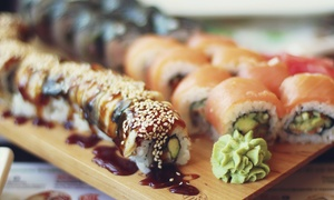 SAKE - Sushi Steak Wine: Sushi for Two for Dinner or Lunch at SAKE - Sushi Steak Wine (40% Off)