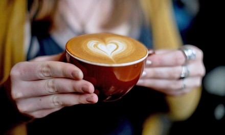 Coffee, Espresso, and Hot Drinks at Barrington Coffee Roasting Company (40% Off) Two Options Available.