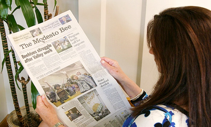 "Modesto Bee: $28.50 for 26 Weeks of ""Modesto Bee"" Sunday Delivery with Digital Access ($74.10 Value)"