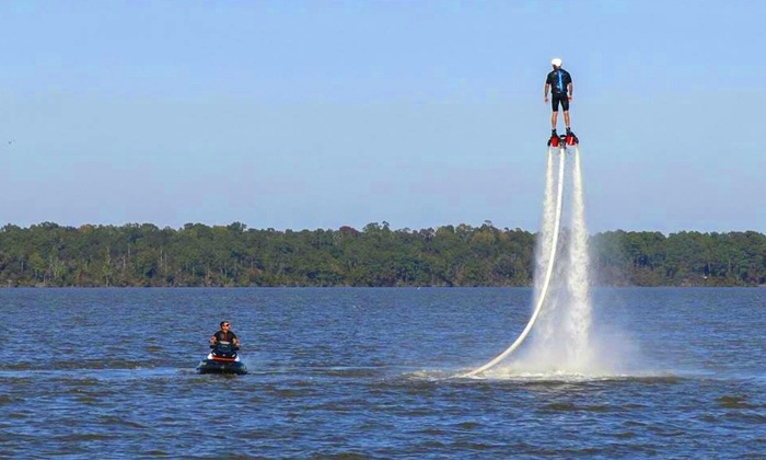 Lone Star FlyBoard - Montgomery: FlyBoard Rental for One, Two, or Four at Lone Star FlyBoard (Up to 51% Off)