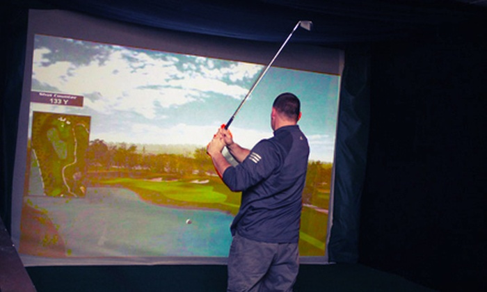 On The Tee Indoor Golf Club - North Plymouth: 18-Hole Round of Indoor Golf for Two or Four at On The Tee Indoor Golf Club (Up to 61% Off)