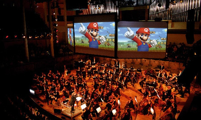 """Play! A Video Game Symphony"" - Downtown: The Calgary Philharmonic Orchestra's ""Play! A Video Game Symphony"" at Jack Singer Concert Hall. Six Options Available."