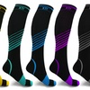XTF Ultra V-Striped Knee-High Compression Socks (6-Pack)