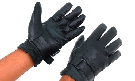 Alpine Swiss Men's Genuine Leather Wrist-Strap or Touchscreen Gloves