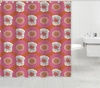 Floral Lawson Canvas Shower Curtain: Floral Lawson Canvas Shower Curtain in Pink or Yellow