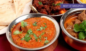 The Curry Club: $35 for $70 Worth of Indian Dinner for Two or More People at The Curry Club