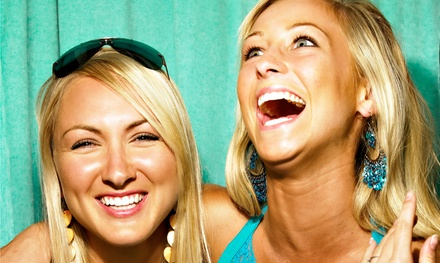 Two or ThreeHour PhotoBooth Rental with Unlimited Prints from Guestlist DJ and Entertainment (55% Off)